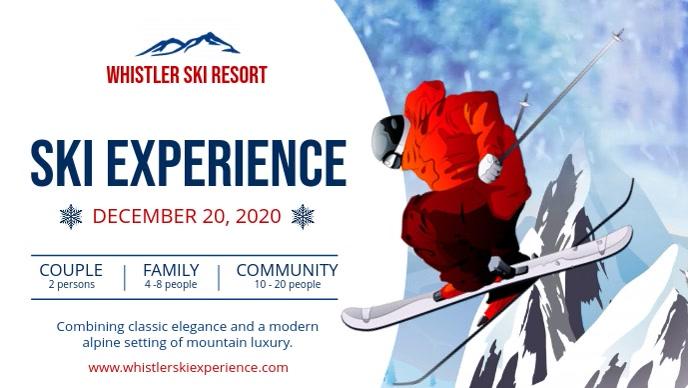 White Ski Ad Facebook Cover Video