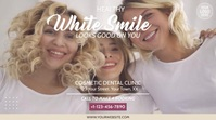 White Smile Dental Clinic Video Ad Digitalt display (16:9) template