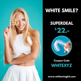White teeth withening kit dentist dental ad