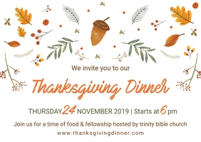White Thanksgiving Postcard Design