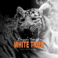 White Tiger Instagram Video Album Cover Cuadrado (1:1) template
