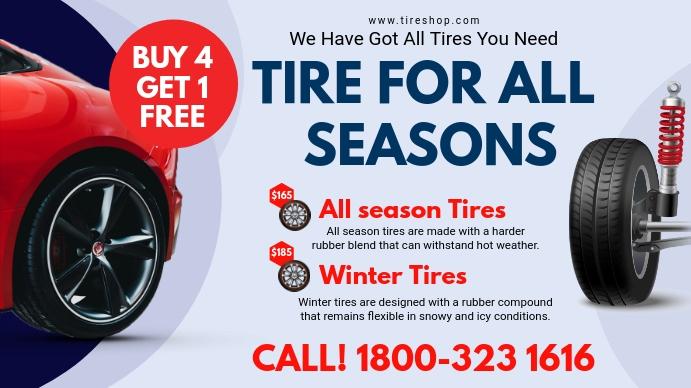 White Tire Center Digital Display Ad