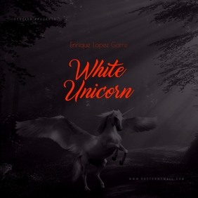 White Unicorn Mixtape Cover Template