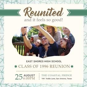 White University Reunion Party Invite