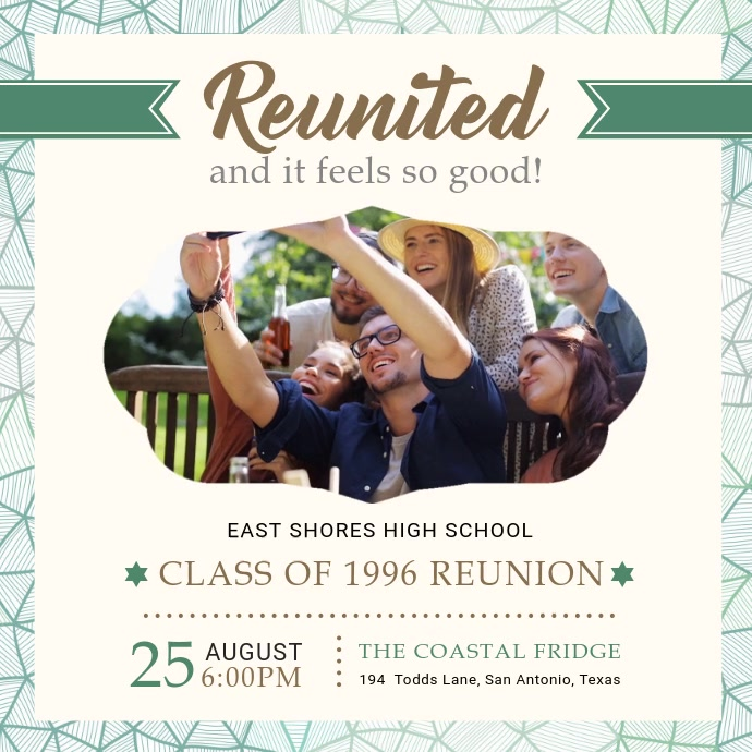 White University Reunion Party Invite