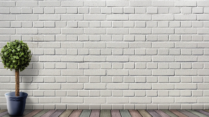 White wall no text zoom background Præsentation (16:9) template