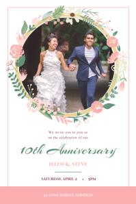 White Wedding Anniversary Poster