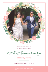 White Wedding Anniversary Poster