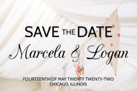 White Wedding Announcement