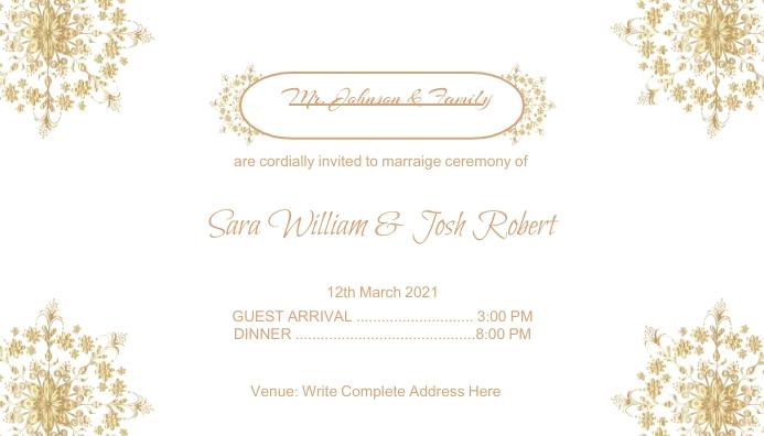 white Wedding Invitation Card Design template