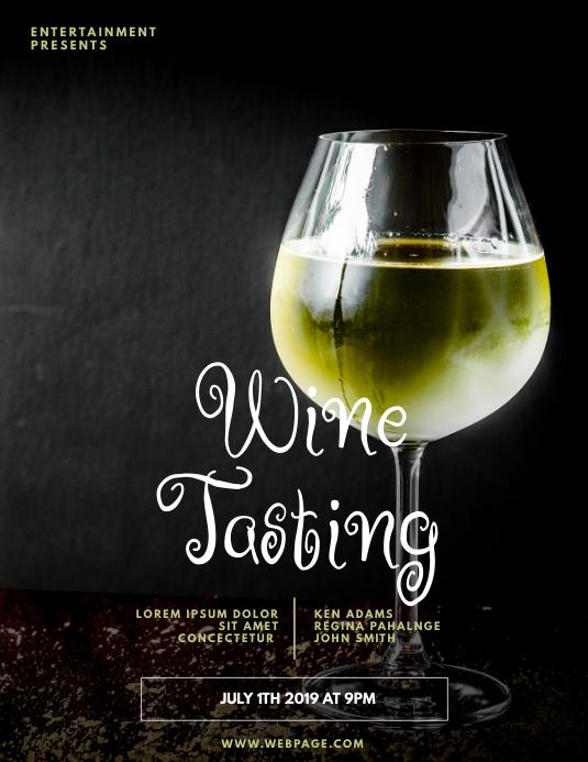 White Wine Event Flyer Template
