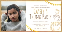 White Women's Trunk Party Facebook Post Templ template