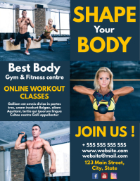 white yellow and dark blue gym and fitness ce