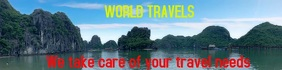 Wide header travel video banner