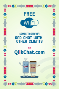Wifi poster for restaurant - With free local chatroom