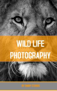 WILD LIFE BOOK COVER Sampul Buku template