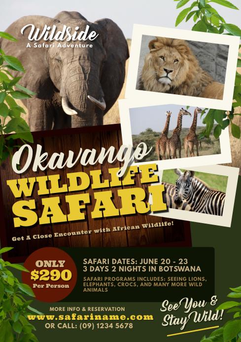 Wild Life Safari Flyer Template