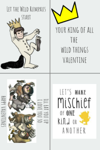 wild things valentines