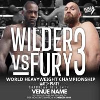 WILDER VS FURY 3 Instagram-bericht template