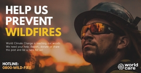 Wildfire prevention facebook shared image ad template