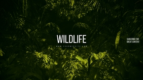Wildlife Green Youtube Channel Art Banner