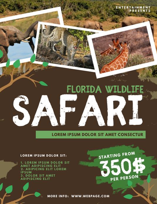 Wildlife Safari Flyer Template Pamflet (VSA Brief)