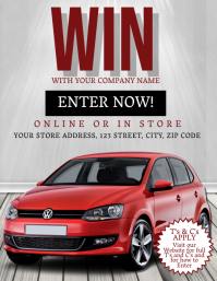 Win a Car Competition Event Flyer Template