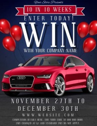 Win a Car Competition Flyer Template Volante (Carta US)