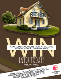 Win a House Competition Flyer template