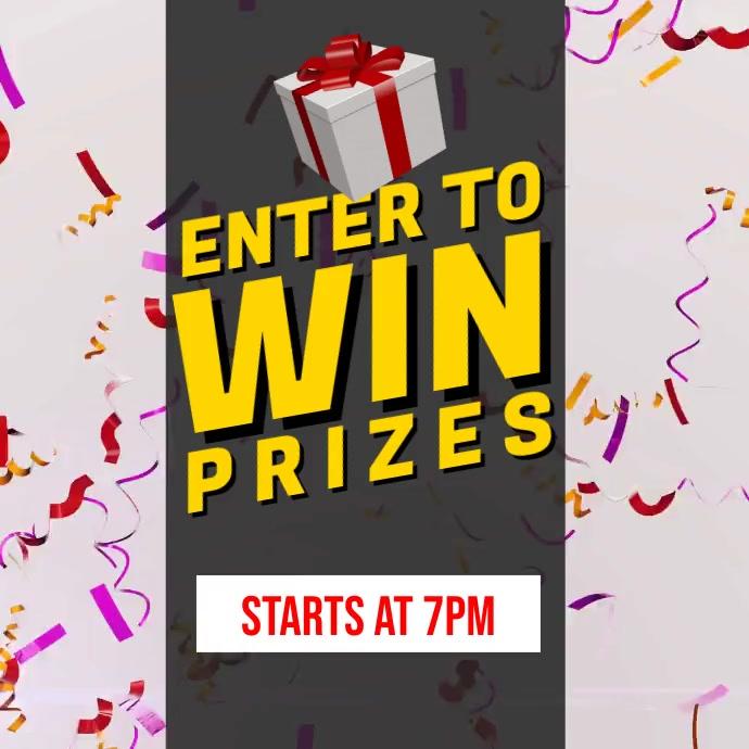 Win Prizes Square (1:1) template