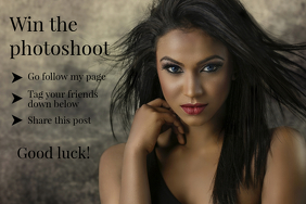 Win the photoshoot flyer template