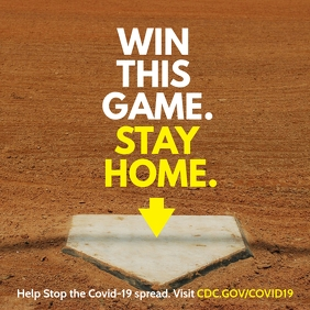Win this baseball game Staying home instagram