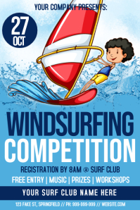 Wind Surfing Competition Poster
