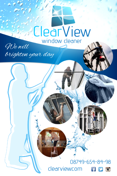 window cleaner poster Póster template