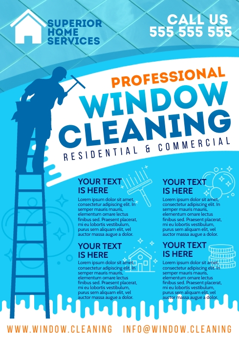 WINDOW CLEANING POSTER A4 template