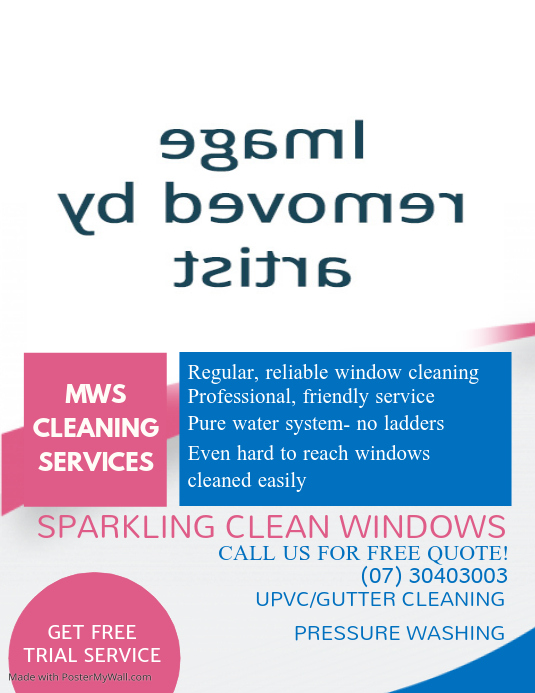 Window Cleaning Flyer Template  Postermywall