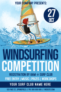 Windsurfing Competition Poster