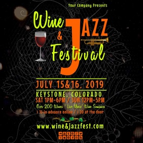 wine&jazz festinsta video Instagram Post template