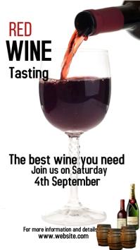 Wine, Bar Flyer, event Instagram 故事 template