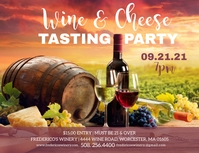 Wine & Cheese Tasting Party Flyer template