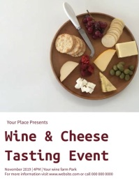 Wine and Cheese tasting Event Flyer template