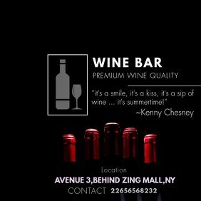 Wine Bar Flyer for Instagram