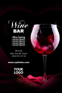 Wine Bar Flyer Poster Tasting Expo Seminar Ad
