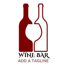 Wine Bar Logo Brand Logo Template