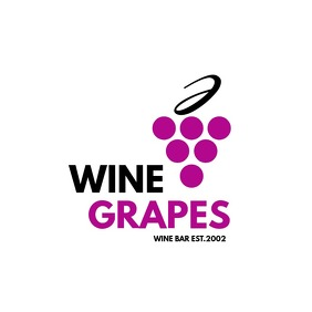 wine bar logo design template Логотип