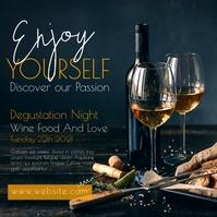 wine bar night advertisement Instagram-Beitrag template