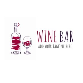 wine bar or restaurant logo Logotipo template