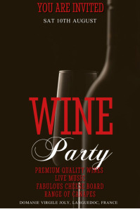 Wine Bar Party Template