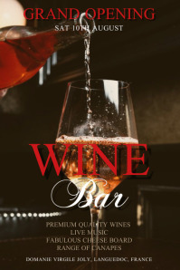 Wine Bar Poster Template