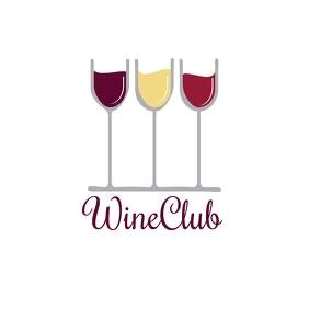 WINE CLUB LOGO template